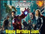 A4 Avengers Personalised Edible Icing or Wafer Paper Birthday Cake topper Design B